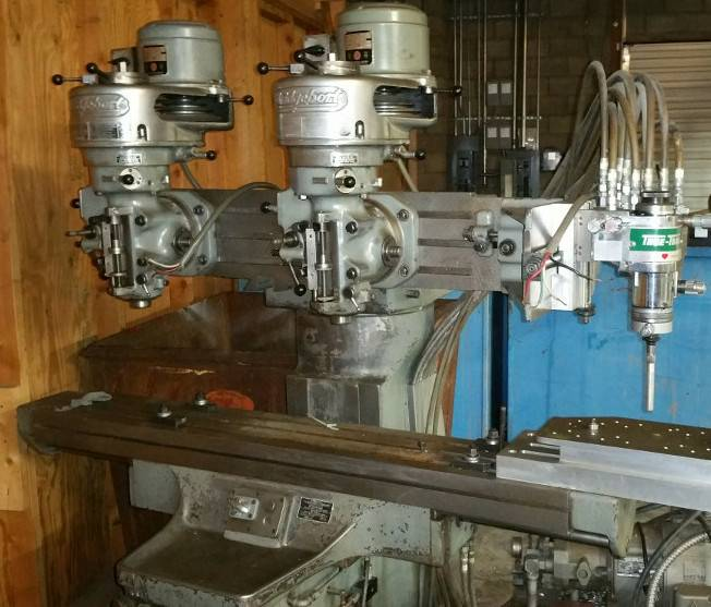 Vertical Knee Mill Dual Head Bridgeport W True Trace