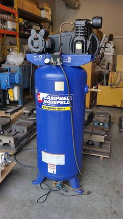 Air Compressor Campbell Hausfeld 60 Gallon Tank 125