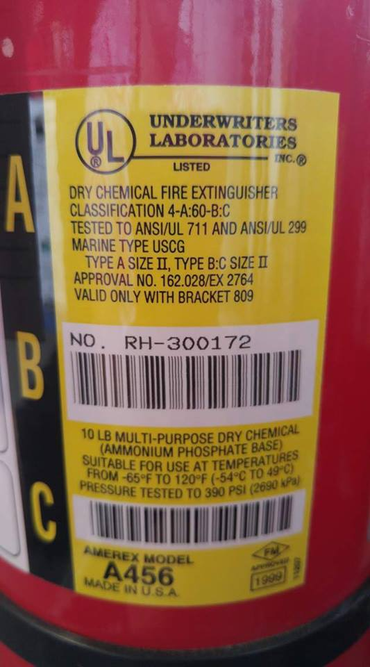 Amerex Multi Purpose Dry Chemical Fire Extinguishers 20lb