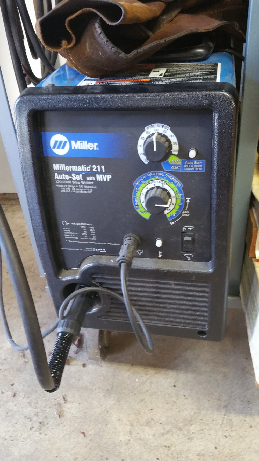 Millermatic 211 Mig Wire Welder Cyclomatic Weld Power System Wiring A Hillsboro Or Sold 2018