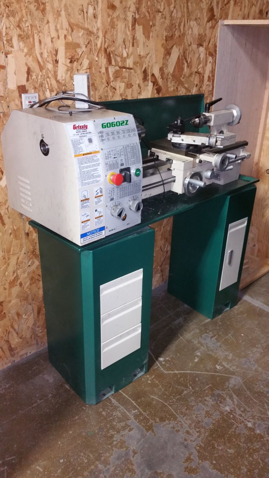 Grizzly 10″ x 22″ Benchtop Metal Lathe – LIKE NEW – 2018